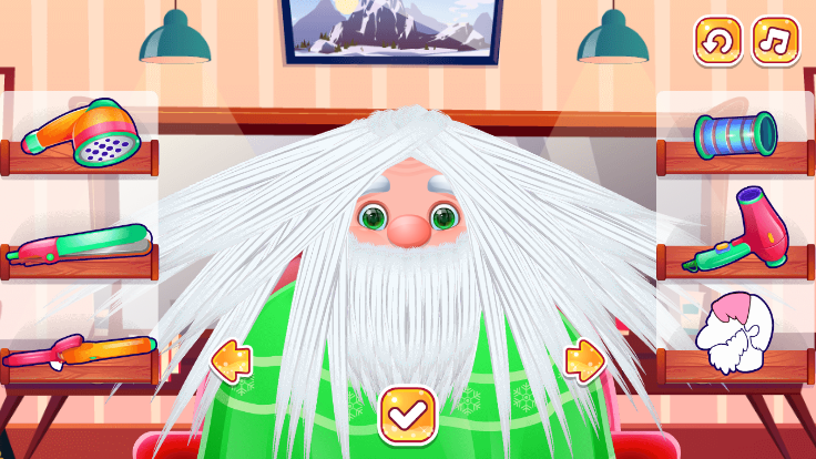 Santa Haircut screenshot 1